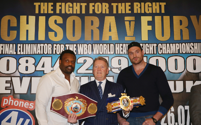 (Video) Tyson Fury vs Dereck Chisora: Head-to-head as Fury has mouth taped shut