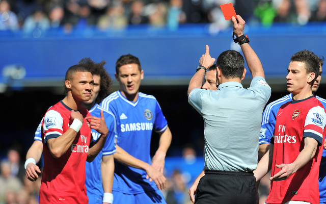 (Image) Former Arsenal star mocks referee Andre Marriner after red card fiasco against Chelsea