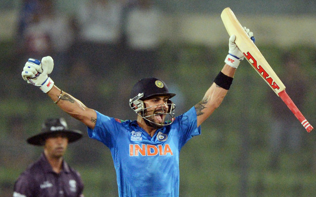 Twitter reacts to Virat Kohli's match wining century for India v Pakistan at Cricket World Cup