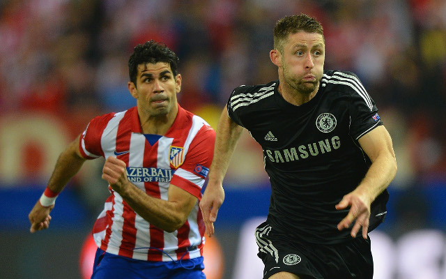 Chelsea & Atletico Madrid combined XI, with Cahill and Costa