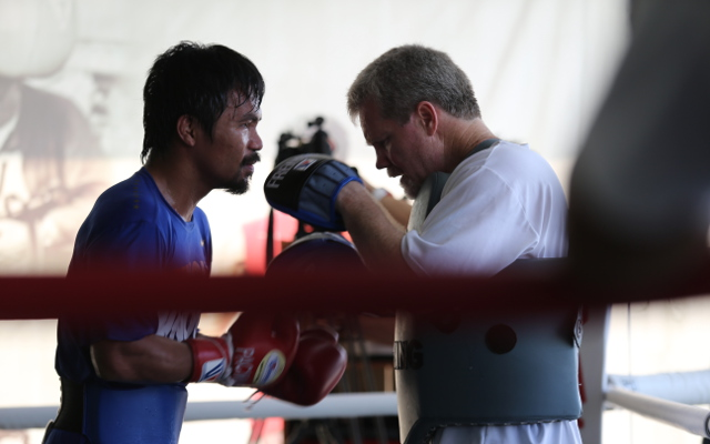 "Mayweather vs Pacquiao: Freddie Roach tells Pac-Man that ""God don't give a f*** who wins"""