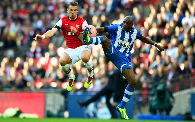 Arsenal 1-1 Wigan Athletic (4-1 on penalties): FA Cup semi-final match report, goals and highlights