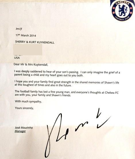 Mourinho letter