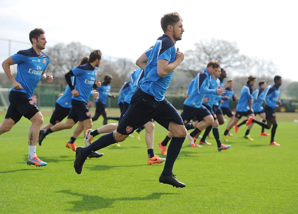 Ramsey back in training