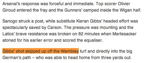 The FA match report