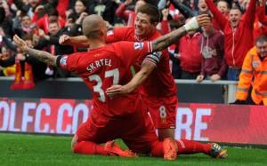 Steven Gerrard Martin Skrtel Liverpool