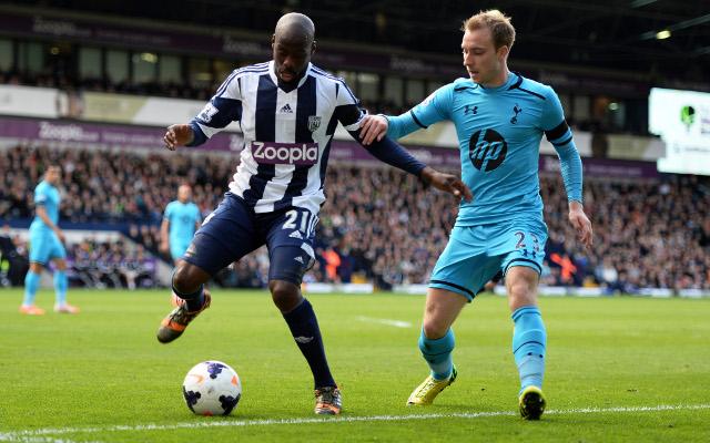Youssuf Mulumbu West Brom Christian Eriksen Tottenham