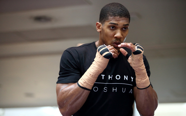 (Video) Anthony Joshua vs Michael Sprott: Head-to-head at press conference