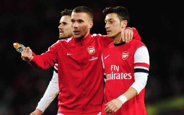 (Image) Arsenal's German stars Ozil and Podolski looking sharp in club suits at the ball