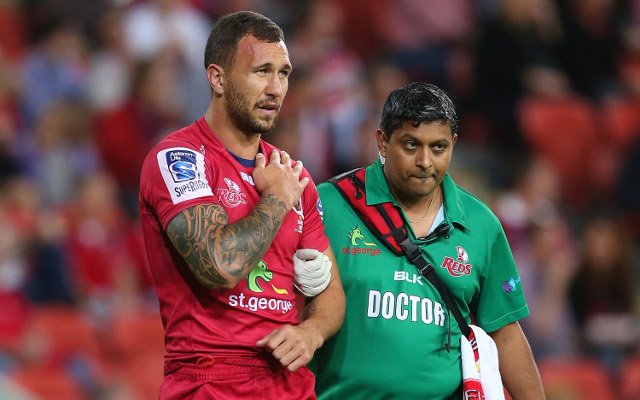 Quade Cooper shoulder injure latest news: Reds star to have scans on Monday