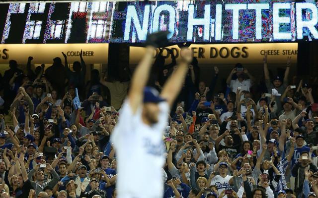 (Video) Clayton Kershaw throws a no-hitter for LA Dodgers v Colorado Rockies