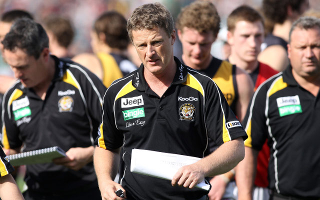 "Richmond Tigers coach Damian Hardwick calls his side ""mediocre"""