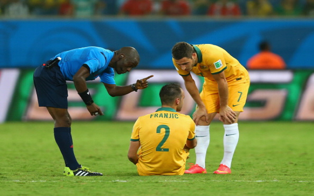 Socceroos defender Ivan Franjic to head home from World Cup after tournament-ending hamstring injury against Chile