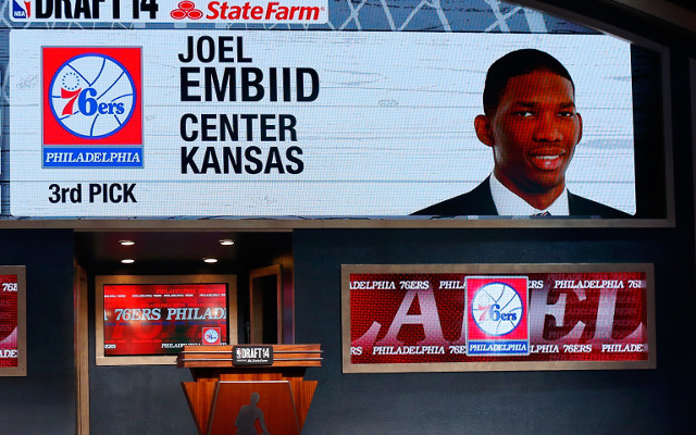 Philadelphia 76ers select Joel Embiid with No. 3 pick of the 2014 NBA draft