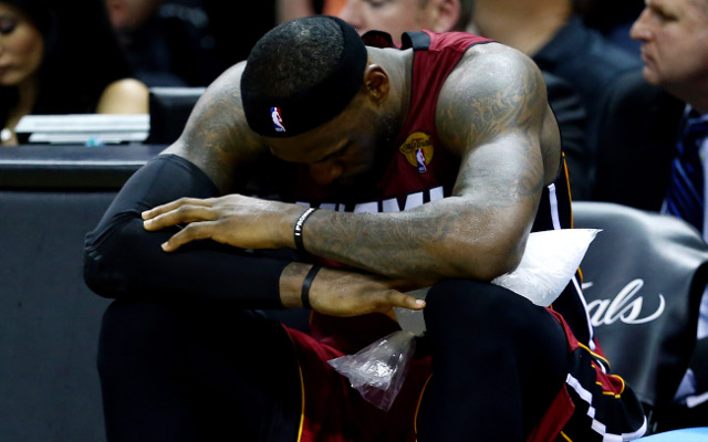 (Image) The best of 'LeBroning' After LeBron James suffers from cramp in NBA Finals