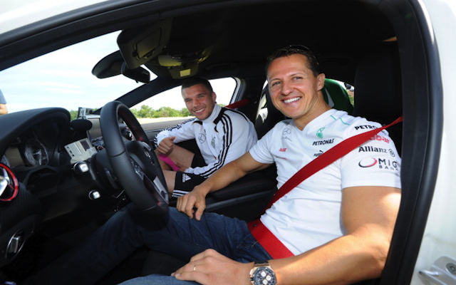 Lukas Podolski dedicates Germany World Cup win over Portugal to F1 legend Michael Schumacher