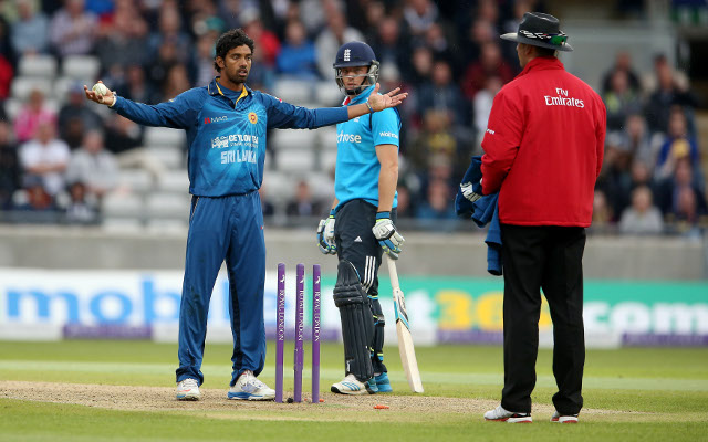 Sri Lanka captain backs his bowler after controversial England dismissal