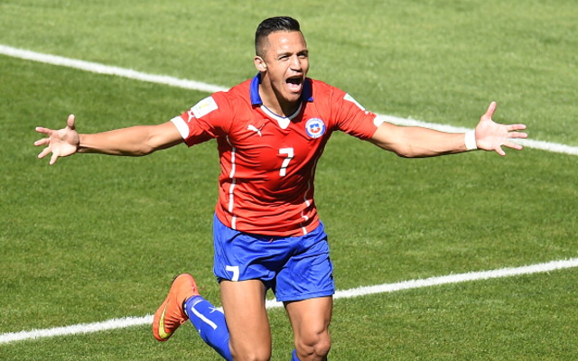 Alexis Sanchez Chile Goal