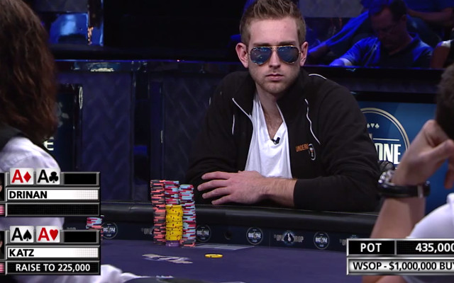 (Video) Connor Drinan gets knocked out of WSOP and loses $1m with pocket aces
