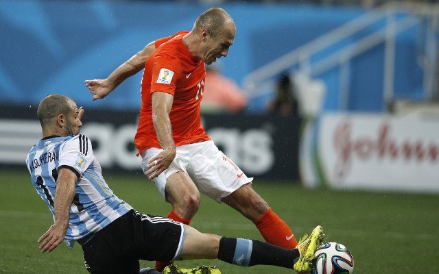 Javier Mascherano 'tore his anus' when tackling Arjen Robben in World Cup semi-final win