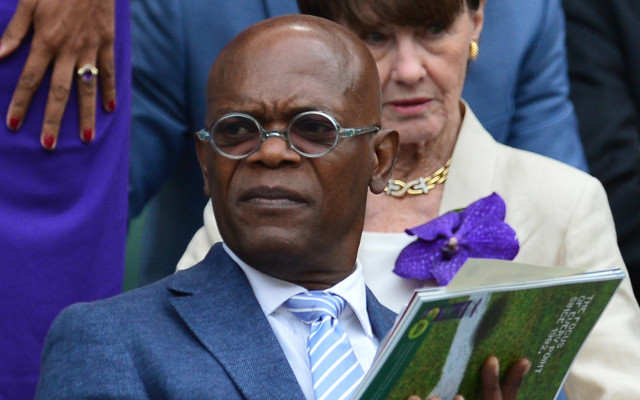 Samuel L. Jackson watches men's singles Wimbledon final from Royal Box
