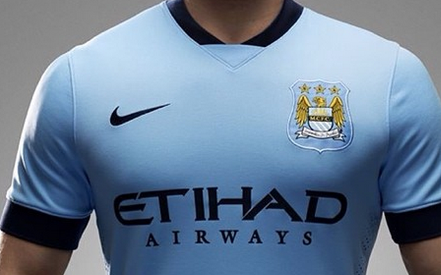 Man City officially unveil new £55 home shirt for 2014-15 season