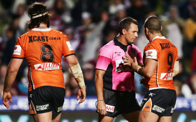 NRL referee Shayne Hayne will not be sacked despite shocking non-try call