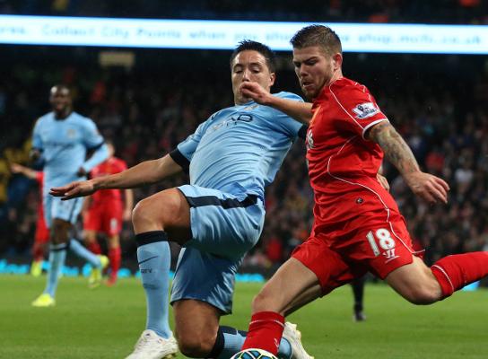 Alberto Moreno, Liverpool Samir Nasri, Manchester City