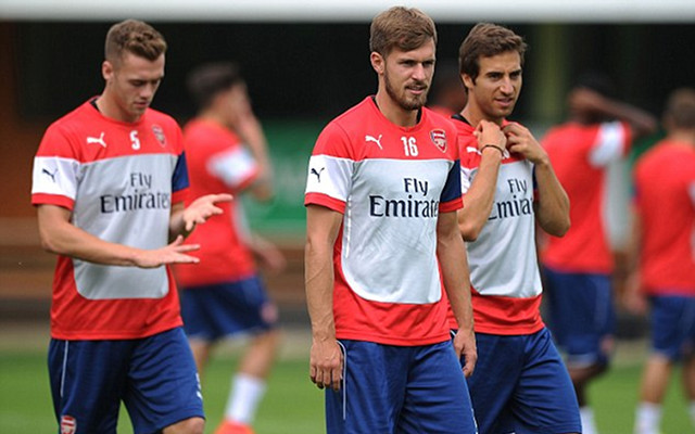 (Images) Arsenal Stars Put Through Paces In Training Ahead Of Emirates Cup