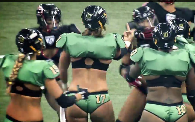 (Video) Fight breaks out between players in former Lingerie Football League