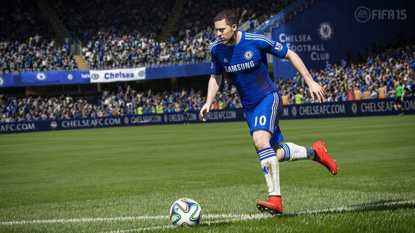 Chelsea's Eden Hazard in FIFA 15