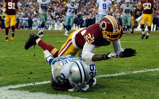Washington Redskins cornerback suffers back injury in practice