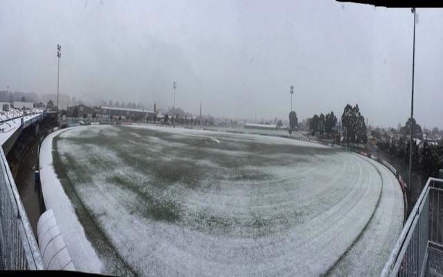 (Image) Pictures emerge of AFL's Eureka Stadium under snow!