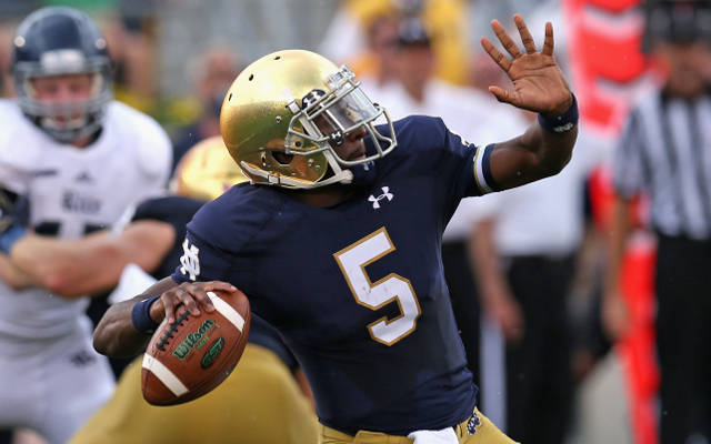 #17 Notre Dame defeats Rice, 48-17