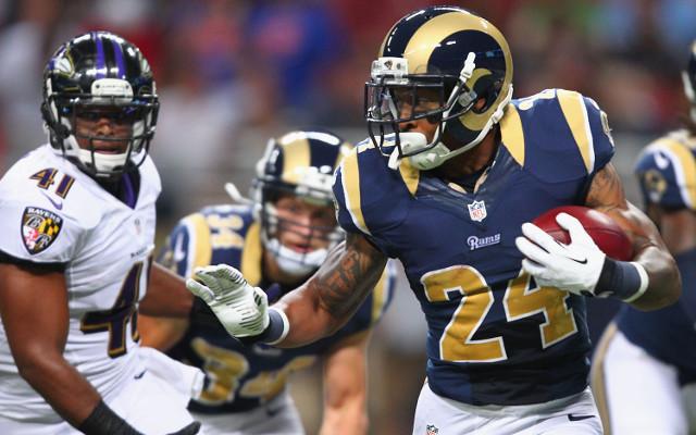 St. Louis Rams running back injures himself in preseason game