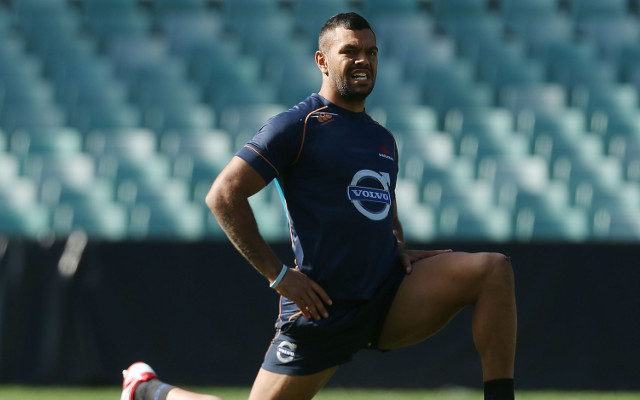 Kurtley Beale fails to finish Waratahs training session