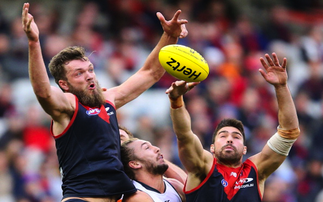(Video) Melbourne's Max Gawn uses his head in ruck contest during 64-point loss to Greater Western Sydney