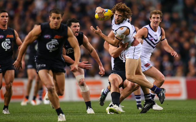 Fremantle star man Nat Fyfe offered two week suspension by AFL match review panel