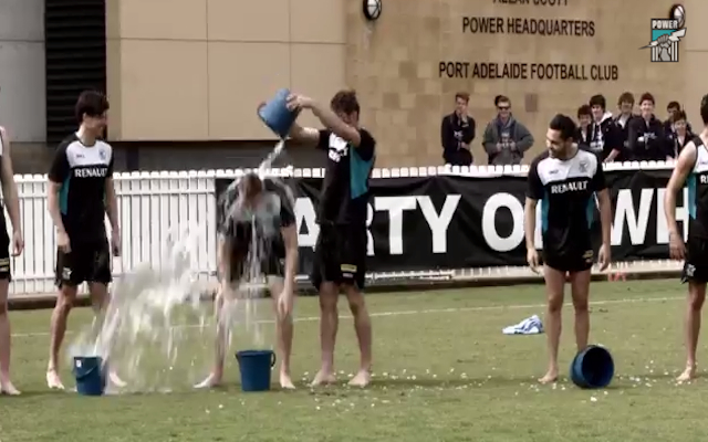 (Video) Port Adelaide team complete Ice Bucket Challenge; nominate the Queen and Red Bull's Daniel Ricciardo