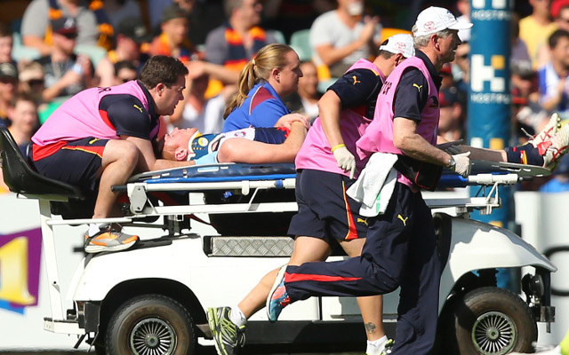 Adelaide Crows star Tom Lynch suffering from a fractured neck