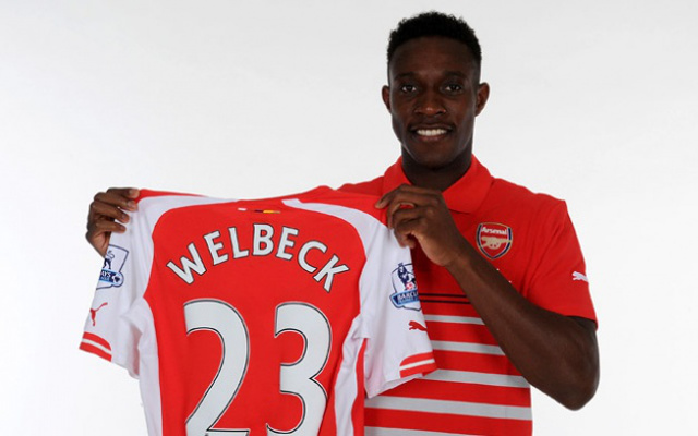 (Images) Danny Welbeck in Arsenal kit for first time following £16m Manchester United switch