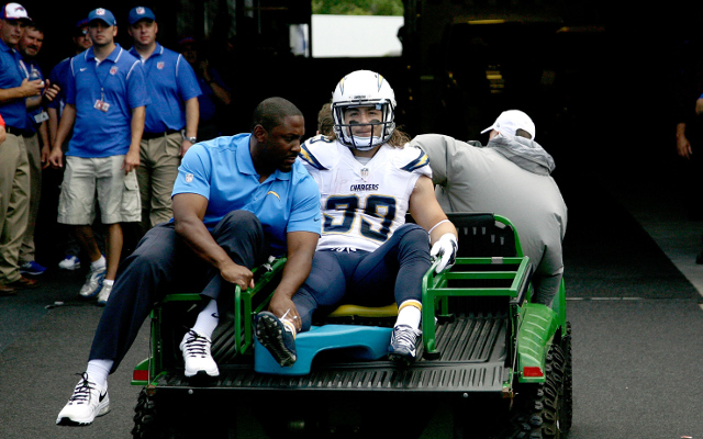 San Diego Chargers running back out for season with broken fibula