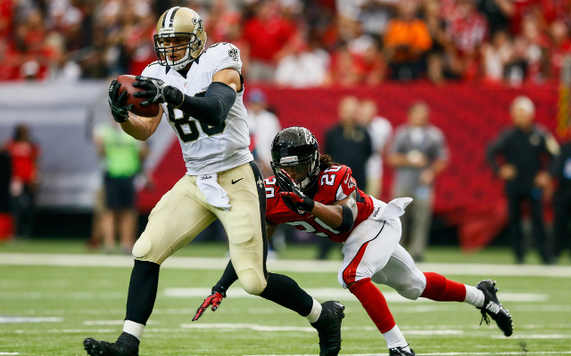 (Video) New Orleans Saints TE Jimmy Graham drops pass