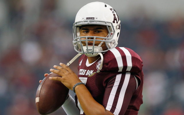 (Video) Texas A&M QB Kenny Hill throws game-tying TD pass