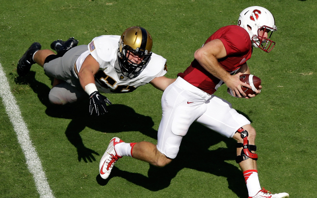 #15 Stanford shuts out Army, 35-0