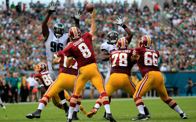 (Video) Washington Redskins QB Kirk Cousins strip-sacked by Giants