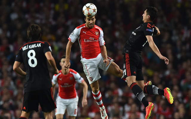 Mathieu Flamini Arsenal Besiktas