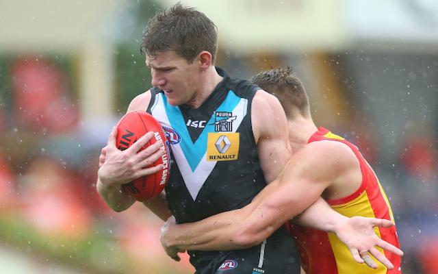 Port Adelaide's Matt White survives brutal jaw test, set to line up in AFL semi-final against Fremantle