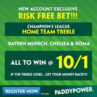 Paddy Power Chelsea Bayern Munich Roma