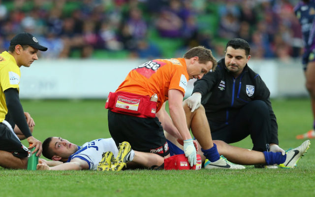 (Video) OUCH! Canterbury Bulldogs forward Pat O'Hanlon suffers sickening injury against Melbourne Storm